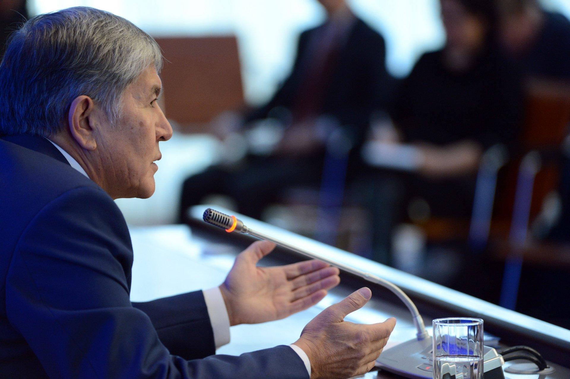 Пресс-конференция А.Атамбаева