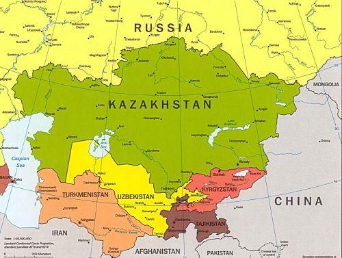 Центральна Азия карта