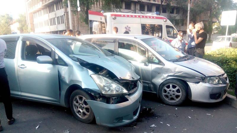 ДТП на ул.Киевская, пострадала женщина. Фото очевидца