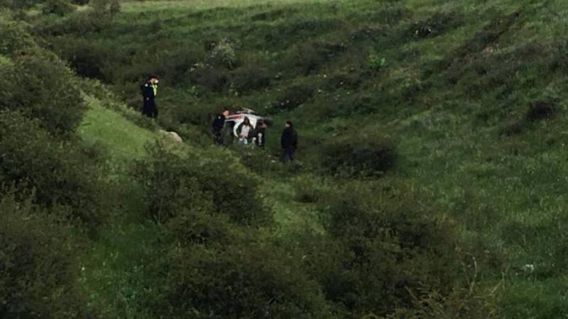 В районе флагштока Honda CRV слетела с горы, - очевидец. Фото
