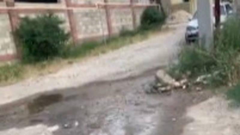В Арча-Бешике может упасть электрический столб, - местная жительница. Видео