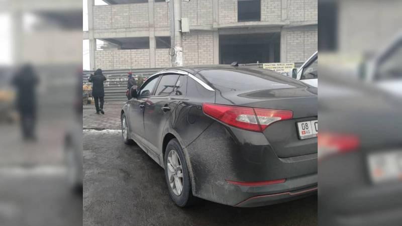 Возле Аламединского рынка замечена «Киа K5», за которой числятся штрафы на 28 тыс. сомов