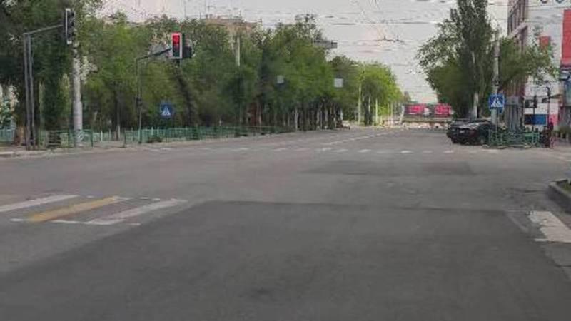 «Бишкекасфальтсервис» на этой неделе нанесет разметку и стоп-линию на ул.Байтик Баатыра