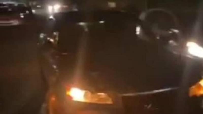 ДТП на ул.7 апреля с участием трех машин. Видео с места аварии