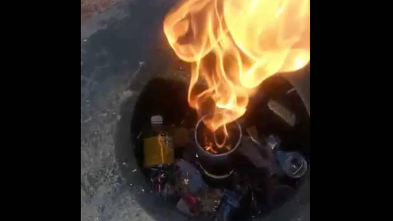 Площадка вокруг Вечного огня завалена мусором, - горожанин