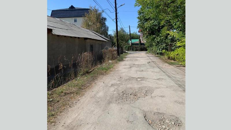 Жители просят положить асфальт на отрезке ул.Куренкеева между Тоголок Молдо и Исанова (фото)