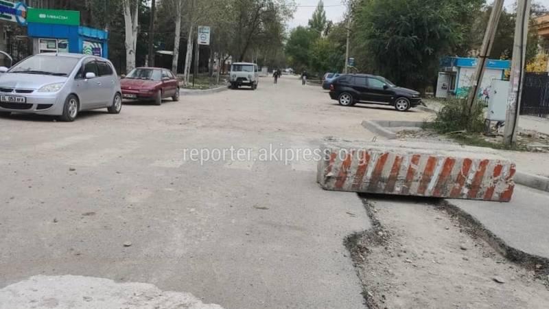 Бишкекчанин жалуется, что из-за ремонта ул.Усенбаева невозможно подъехать к роддому №1