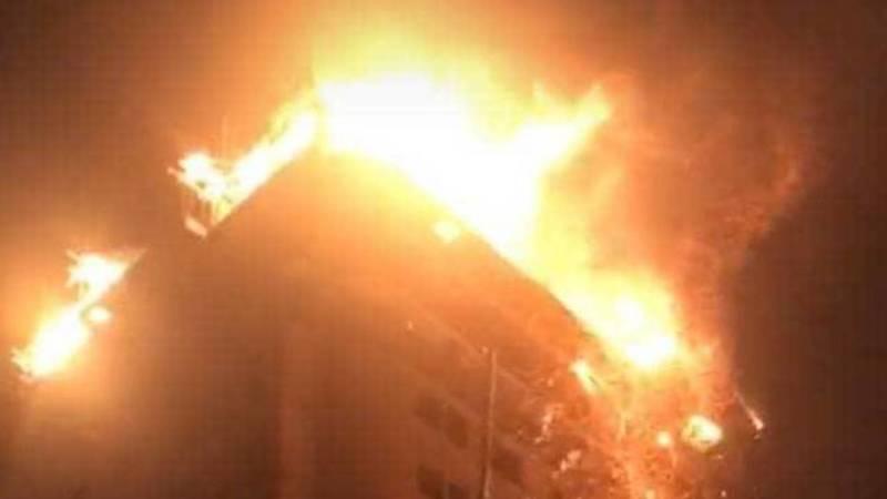 Пожар в Джале. Фото и видео очевидцев