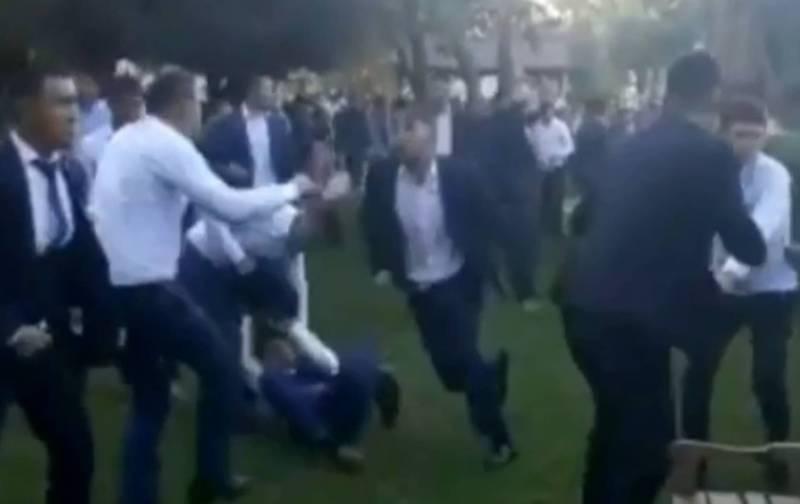 Видео – Массовая драка на свадьбе