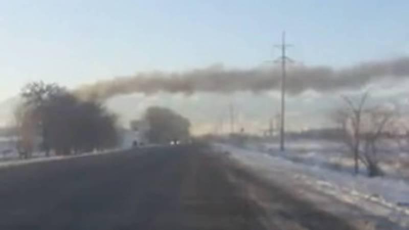 В Сокулуке из трубы здания компании «Рола» идет густой дым, - очевидец (видео)