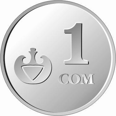 Валюта Кыргызстана - монета номиналом 1 сом образца 2008 года. АКИpress