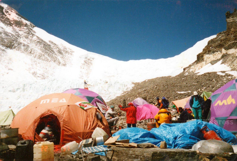 Эверест. Лагерь ABC под Северным седлом / Фото: Дмитрий Греков