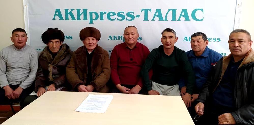 Жители Таласской области