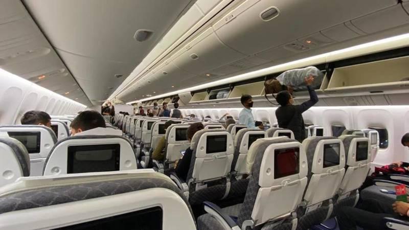 Первый рейс Бишкек—Алматы с марта. Фото пассажира