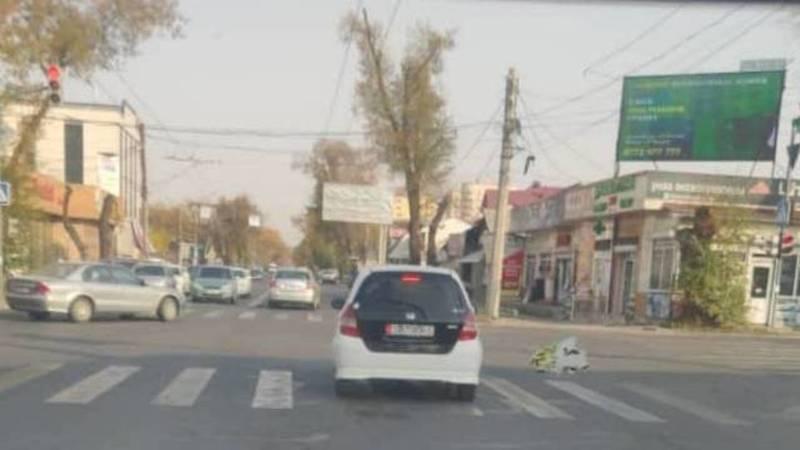 В Бишкеке водитель «Хонды Фит» нарушил ПДД, - горожанин