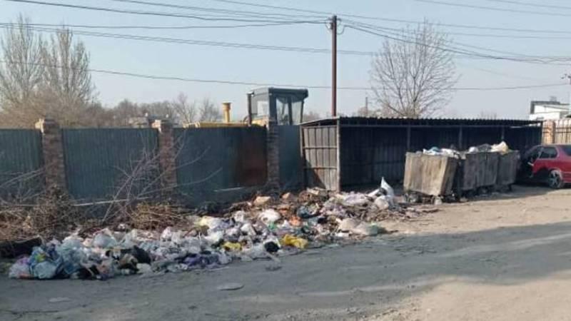 Горожанин жалуется на мусор рядом с рынком «Кудайберген». Фото