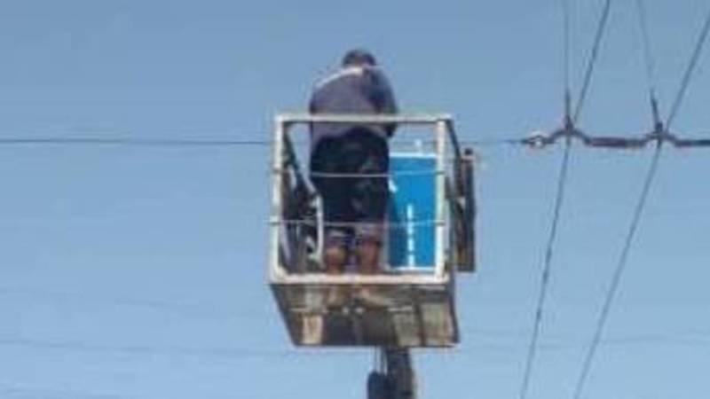 «Бишкекасфальсервис» восстановил дорожный знак на Сухэ-Батора