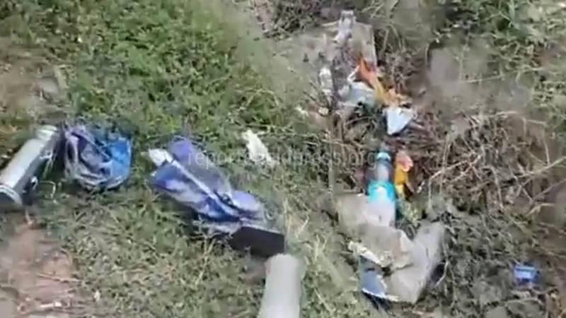 Свалка возле ООБДД Ошской области. Видео