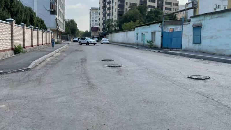 Когда на Ажибек Баатыра закончат ремонт дороги? Фото горожанина