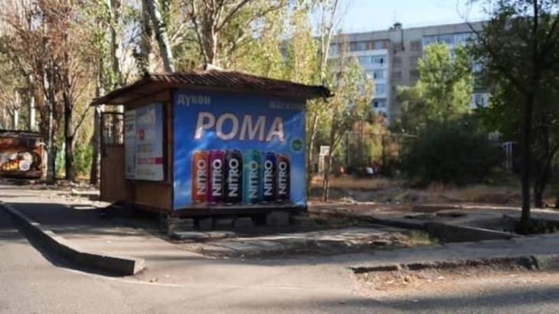 Законно ли функционирует павильон на улице Айтиева в Асанбае. Фото