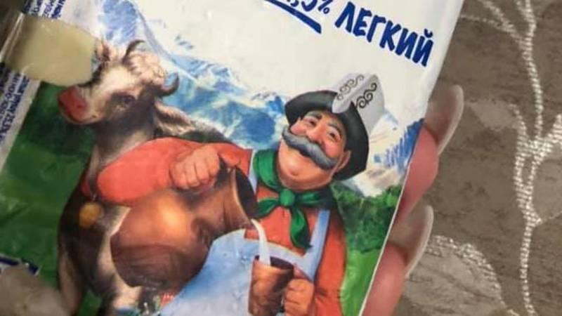 Бишкекчанка Наталья жалуется на состояние сливочного масла «Веселый молочник». Фото