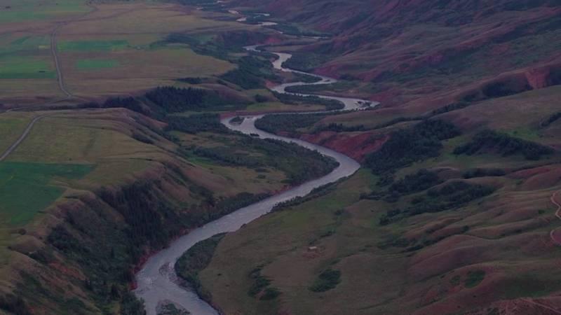 Река Кичи-Нарын. Видео с дрона