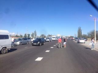 Читатель прислал фото пробки в городе Балыкчы.