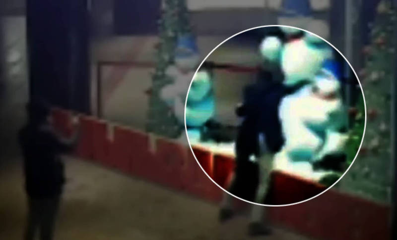 Драка со снеговиком в Бишкеке попала на видео. Милиция ищет хулиганов