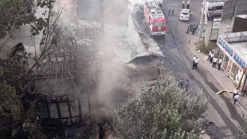 Что осталось после пожара в 6 мкр. Фото местного жителя