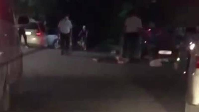 В Канте водитель сбил местного жителя. Видео с места ДТП