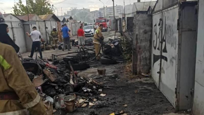 Последствия пожара в 11 мкр. Видео и фото