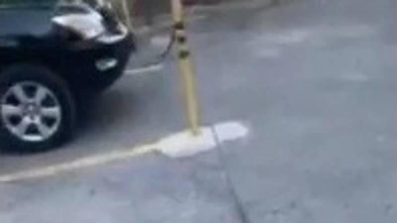 Законно ли на ул.Герцена организовали закрытую стоянку на тротуаре? - горожанин. Видео