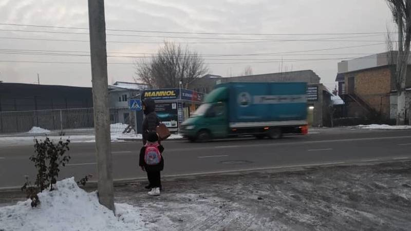 На Тоголок Молдо возле школы №18 нет разметки пешеходного перехода, - горожанин Талант