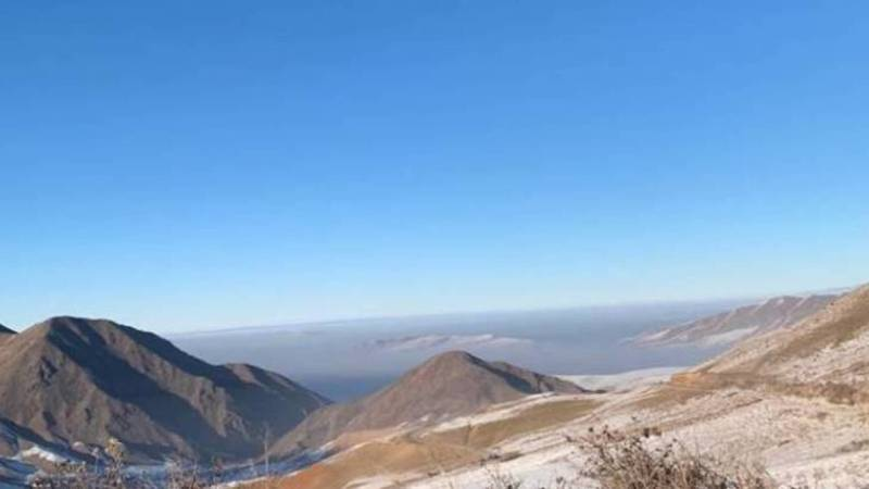 Смог над Бишкеком. Вид с комплекса Чункурчак
