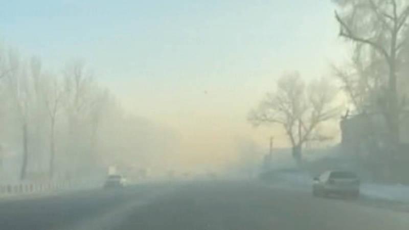 Смог в Новопавловке 15 января. Видео
