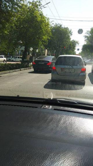Выезд на встречную полосу на ул.Московской