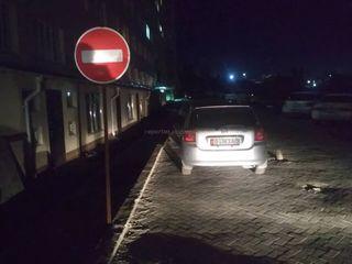 Парковка на тротуаре в мкр Улан-2