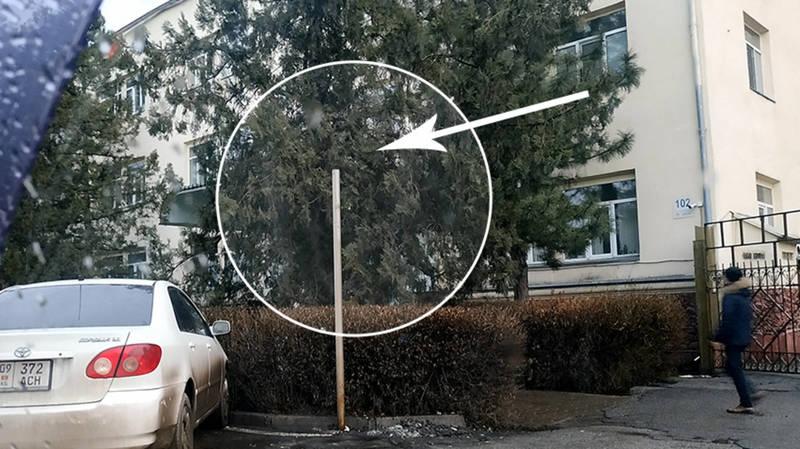 Куда делся запрещающий парковку знак на Московской-Тыныстанова?