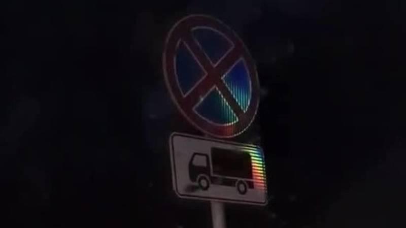 На Фучика игнорируют проезд «Проезд для грузового транспорта запрещен». Видео горожанина