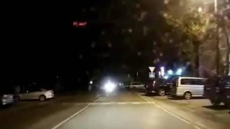 Момент аварии в Рабочем городке попал на видео