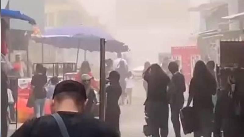 Пыльный ветер на Дордое. Видео