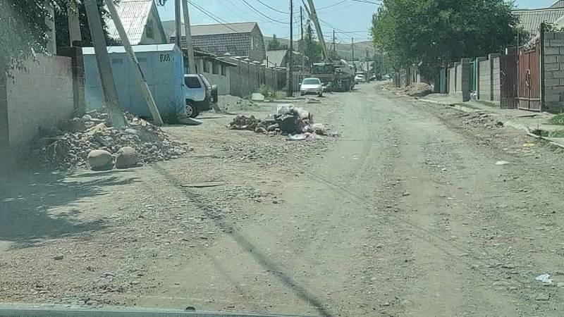 Когда восстановят дорогу на ул.Иманалиева? - горожанин