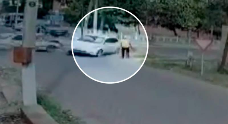 Момент наезда на пешехода в Кочкор-Ате попал на видео