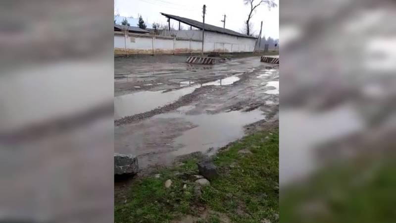 Горожанка просит отремонтировать дорогу на ул.Жакыпова в Канте