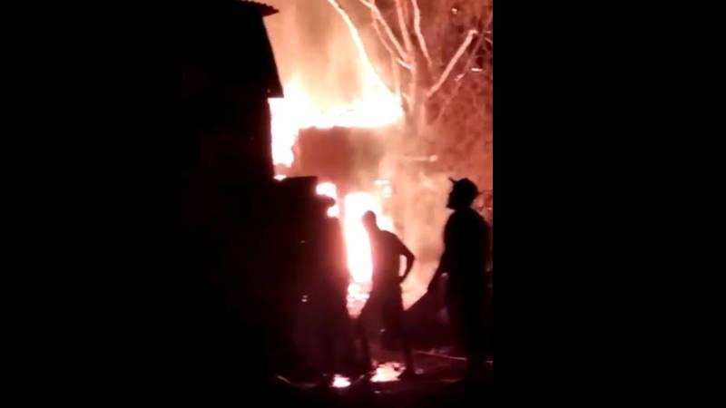Видео пожара в селе Новопавловка 1 июня