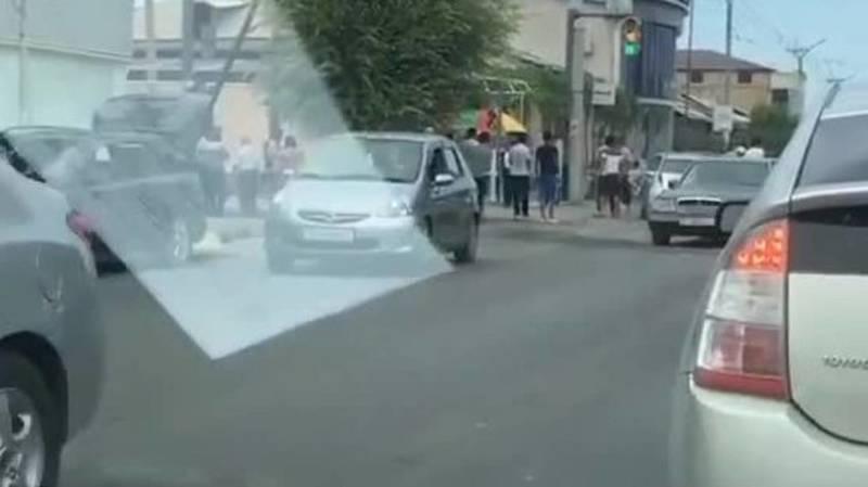 ДТП в Оше с участием «Мерседеса». Видео