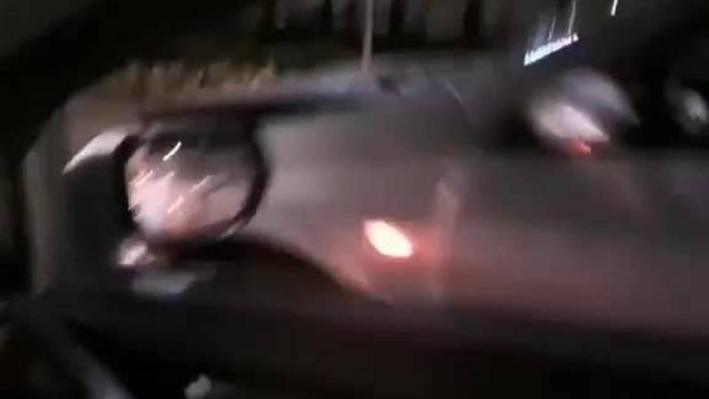 Четыре машины столкнулись «паровозиком». Видео с места аварии