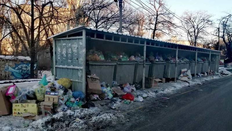 Бишкекчанин Евгений жалуется на мусор на ул.Суеркулова. Фото