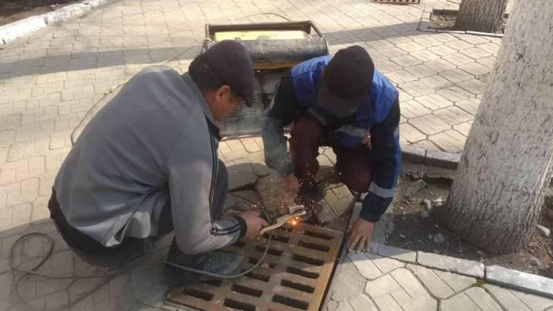 «Бишкекасфальтсервис» установил решетку ЛПР возле Дома кино после жалобы горожанина