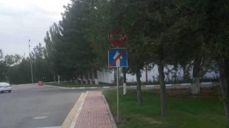Возле резиденции «Ала-Арча» из-за веток не видно знака STOP, - горожанин